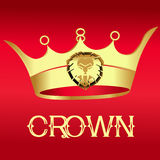 Gold Crown on red  - Illustration Royalty Free Stock Photography