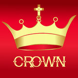 Gold Crown on red  - Illustration Royalty Free Stock Photos
