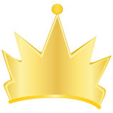 Gold crown. A symbol of power. Vector illustration Royalty Free Stock Photography
