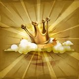 Gold crown, vector background Stock Photography