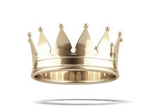 Gold crown. On a white background. 3d render Stock Photos