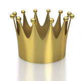 Gold crown on white background Stock Photo