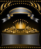 Gold Crown With Ribbons Royalty Free Stock Photo