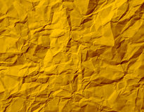 Gold Crumpled Paper Texture stock photo