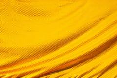 Gold crumpled silk fabric textured Royalty Free Stock Photos