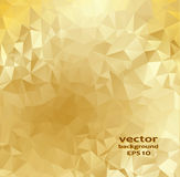 Gold crystal abstract pattern. Business Design Stock Photography