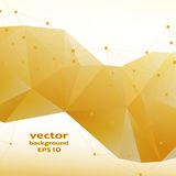 Gold crystal abstract pattern. Business Design Royalty Free Stock Photo