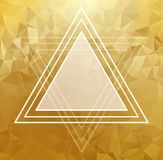 Gold crystal abstract pattern. Business Design Stock Images