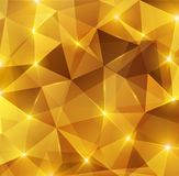 Gold crystal abstract pattern. Stock Image