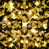 Gold crystal fractals texture. Gold crystal sparkling fractals background royalty free stock photography