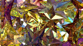 Gold Crystal Stars Stockfotos