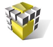 Gold cube  Stock Photos