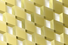 The Gold Cubes Royalty Free Stock Photos