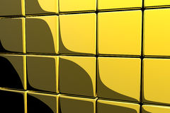 Gold cubes. Shiny gold cubes - 3d render Royalty Free Stock Photo