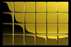 Gold cubes. Very shiny gold blocks - 3d render Royalty Free Stock Photo