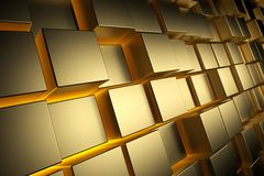 Gold Cubes Stock Photography