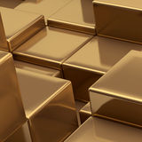 Gold cubes background Royalty Free Stock Photos