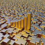 Gold cubes background Stock Image
