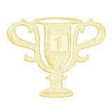 Gold cup Royalty Free Stock Images
