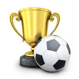 Gold Cup awarded in football Royalty Free Stock Photography