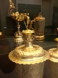 Gold cup. Exhibits on The Hungarian National Museum national museum for the history, art and archaeology of Hungary, including areas not within Hungary's modern Royalty Free Stock Photography