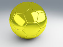 Gold cup football. 3d Illustration Royalty Free Stock Photo