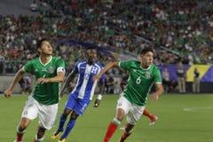 Mexico vs Honduras Royalty Free Stock Photos