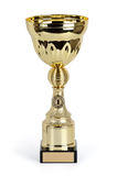 Gold Cup isolated on a white background. Royalty Free Stock Photography