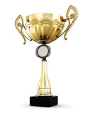 Gold cup with a place for your design Stock Photos