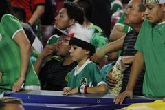 Young Mexico football fan Royalty Free Stock Images