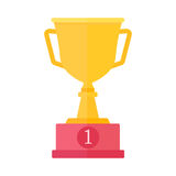 Gold cup trophy reward competition vector illustration. Royalty Free Stock Photography
