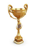 Gold cup on a white background Royalty Free Stock Images