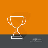 Gold cup of the winner Royalty Free Stock Photos