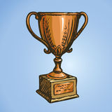 Gold Cup winner. Vector drawing Stock Photos