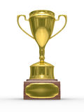 Gold cup of winner on white background Stock Photography