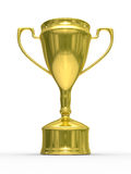 Gold cup of winner on white background Royalty Free Stock Image