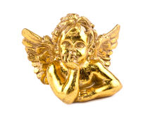 Gold cupid on white Royalty Free Stock Photography