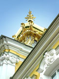 Gold cupola. With two heads eagle Royalty Free Stock Photos