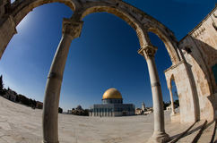 Gold cupola of Jerusalem-3 Stock Photos