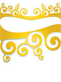 Gold curled background element Royalty Free Stock Photos