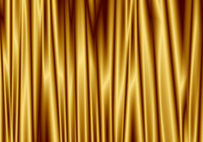 Gold Curtain Reflect With Light Spot On Background Stock Photos