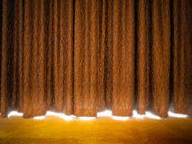 Gold curtains Stock Image