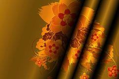 Gold curtains. Stock Photo