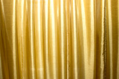 Gold curtains on stage Royalty Free Stock Photo