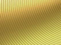 Gold curve. Corrugated surface in gold curve - 3d render Royalty Free Stock Photo