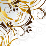 Gold curves Stock Photography