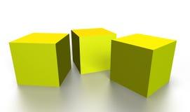 Gold 3D cubes Stock Image