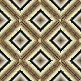 Gold 3d geometric greek vector seamless pattern. Modern textured. Ornamental waffle background. Striped patterned repeat backdrop. Abstract greek key meander royalty free illustration