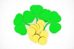 Gold. 3D illustration on the theme: St. Patricks Day Stock Image