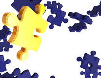 Gold 3D puzzle Royalty Free Stock Images